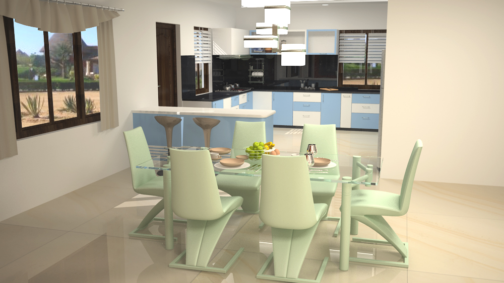 6 seater dining space