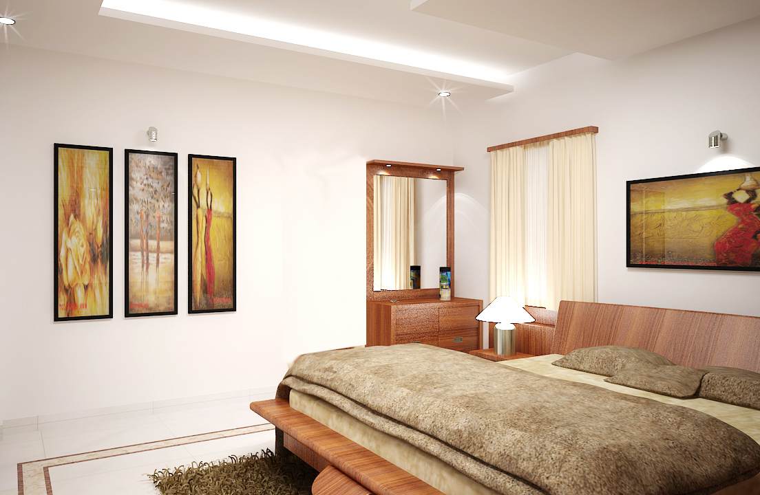 Abstract painted bedroom